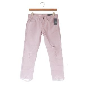 NWT Mossimo Pink Boyfriend Crop Raw Hem Jeans